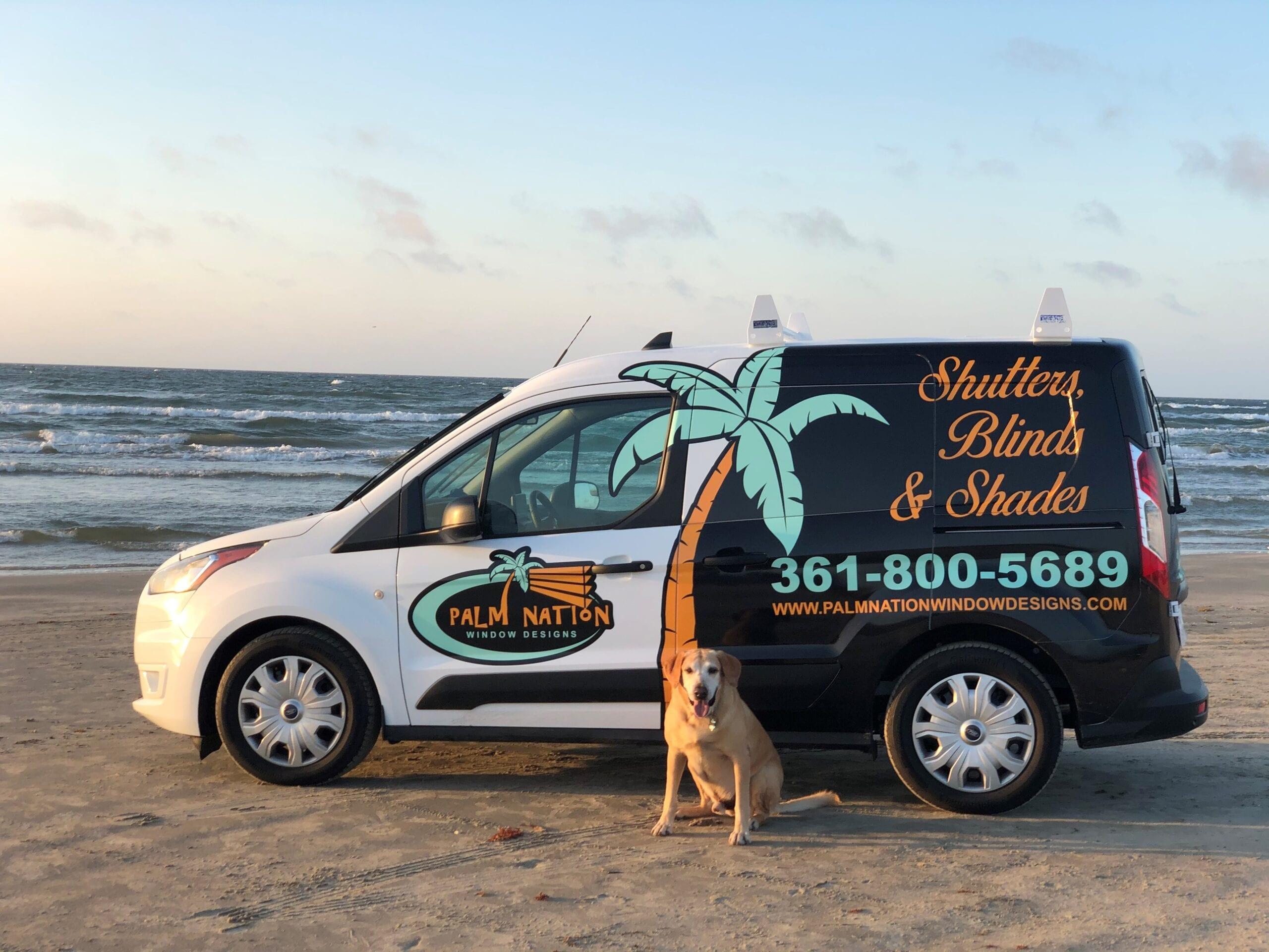 Van and Tug at beach